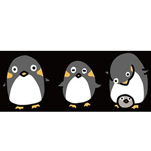 可愛いペンギンのイラスト