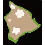 ハワイの土地のイラスト