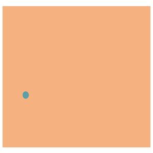 オレンジ色のねずみのイラスト