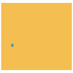 黄色のねずみのイラスト