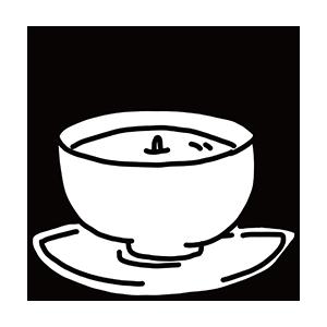 お茶碗のぬりえ