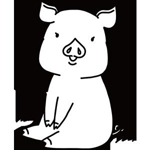 豚の日のぬりえ