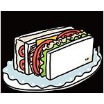 サンドウィッチの日のイラスト