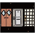 良い戸の日のイラスト