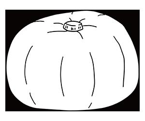 かぼちゃのぬりえ