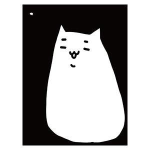 白い猫のイラスト