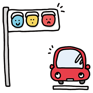 交通信号記念日のイラスト