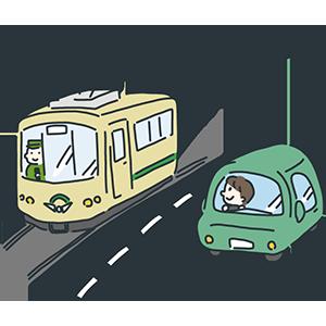 路面電車の日のイラスト