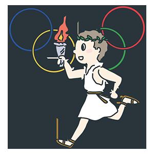 オリンピックの日のイラスト