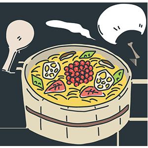 ちらし寿司の日のイラスト